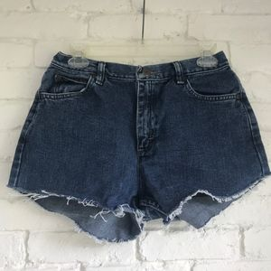 High waisted cutoff jean shorts ~28-29in waist